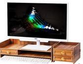 電腦顯示器增高架子支底座屏辦公室用品桌面收納盒鍵盤整理置物架YYS     易家樂