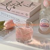 玻璃杯少女日式酒杯小眾設計復古咖啡牛奶透明水杯【極簡生活】