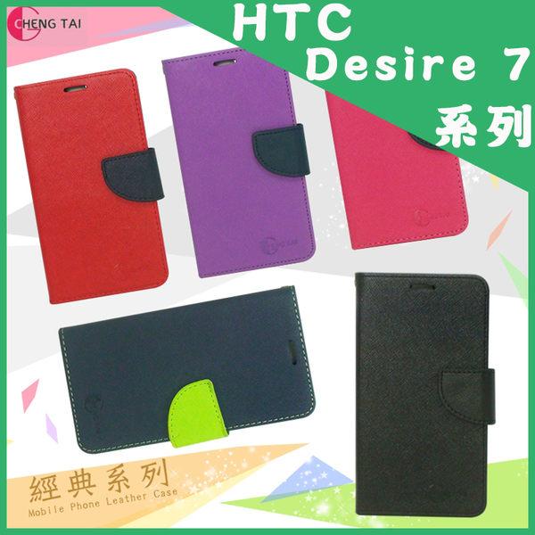 ●HTC Desire 700 dual sim 經典款 系列 側掀可立式保護皮套/保護殼/皮套/手機套/保護套