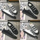 韓版潮流社會一腳蹬帆布鞋男夏季鞋子快手紅人潮鞋精神小伙懶人鞋花間公主