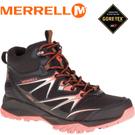 【MERRELL 美國 女款 高筒 CAPRA BOLT MID GORE-TEX 登山鞋〈黑/亮橘〉】ML37392/休閒鞋/登山鞋