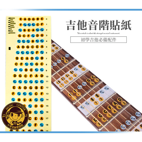 【小麥老師 樂器館】音階貼紙 吉他音階貼紙 【A421】 指板貼紙 把位貼紙 吉他 GT59