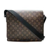 【台中米蘭站】全新品 Louis Vuitton Monogram帆布翻蓋磁釦斜背包-MM(N40934-咖)