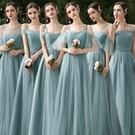 伴娘服女夏季平時可穿春秋伴娘禮服女 婚禮伴娘服2021新款仙氣質 伊蘿
