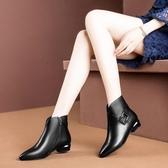 馬丁靴女英倫風2020新款短靴女單靴學生粗跟加絨小跟鞋百搭女靴子