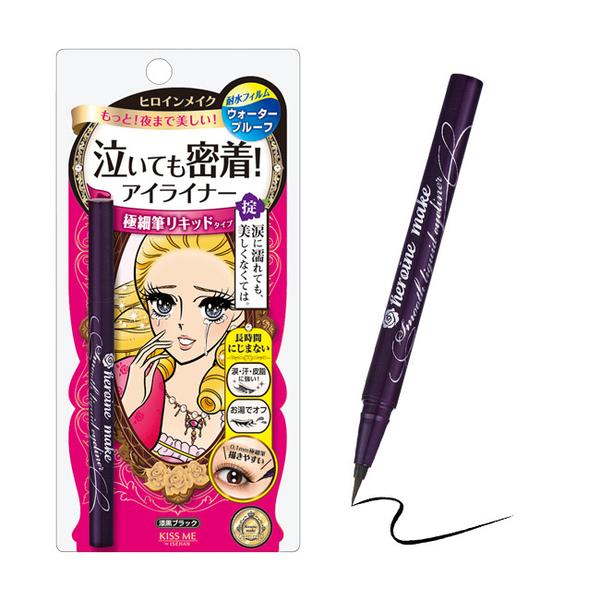 KISSME 花漾美姬零阻力絲滑濃黑眼線液筆0.4ML