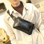 男胸包新款潮牌胸包男士腰包單肩斜跨包皮質小包小背包休閒韓版時尚 麥吉良品