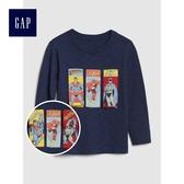 Gap男嬰幼童 DC正義者聯盟活力印花長袖T恤 496438-青藍色