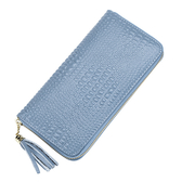長夾 鱷魚紋 皮 拉鍊 潮 卡包 錢包 手拿包 長夾【CLA035】 icoca  01/04