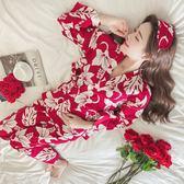 日式和服公主風睡衣可愛寬鬆 冬天家居服套裝