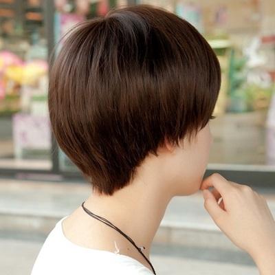 假髮(短髮)-時尚蓬鬆帥氣斜劉海女配件3色73fi2【時尚巴黎】