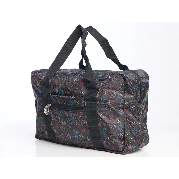 LAZY MARU折疊旅行袋(防水印花輕便旅行袋)