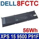 DELL 8FCTC 56Wh . 電池 DVG8M P8P1P 69KF2(86Wh) DELL G7 15 7500 P100F DELL XPS 15 9500 P91F