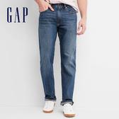 Gap男裝 基本款簡約風格直筒牛仔褲 647267-深靛藍色