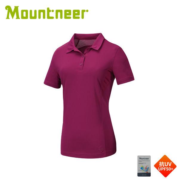 【Mountneer 山林 女 透氣排汗上衣《紫羅蘭》】31P28/短袖/排汗衣/T恤/運動短袖/登山露營