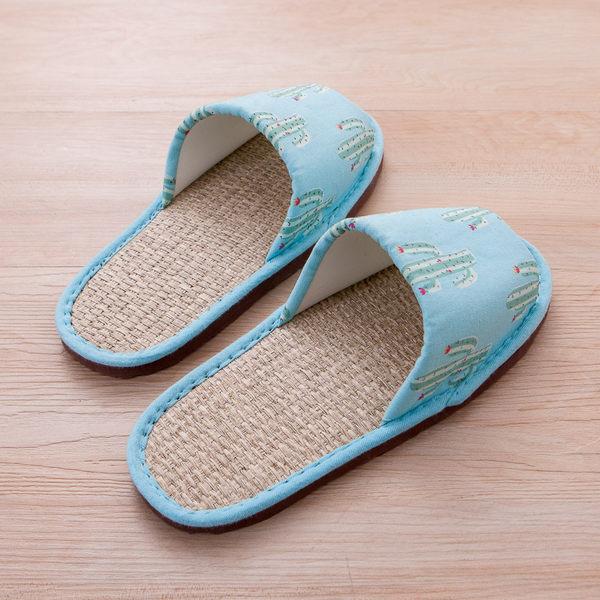 仙人掌紙蓆拖鞋-生活工場