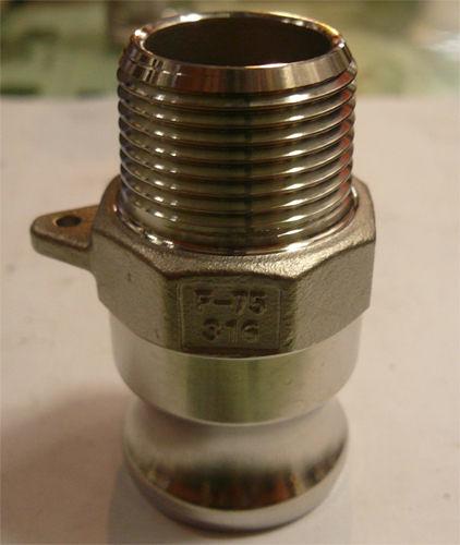 水用快速接頭 F型 1-1/4英吋 PT公外牙 材質:白鐵304# 台灣製造