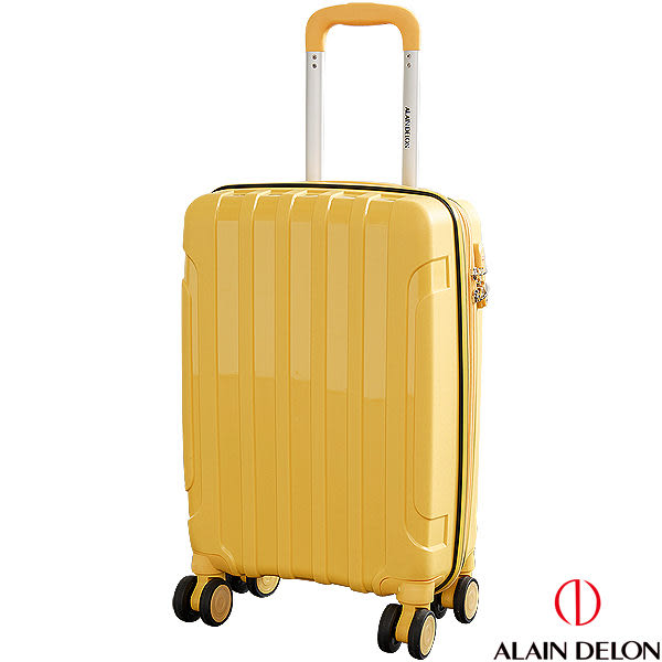 ALAIN DELON 亞蘭德倫 20吋 二代亮彩旗艦系列登機箱(黃)