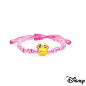 Disney迪士尼金飾 夢想美妮 黃金中國繩手鍊-可愛粉
