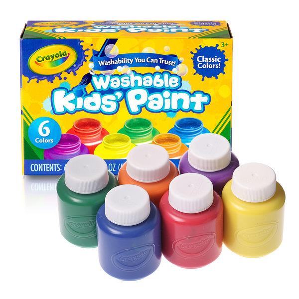 小饅頭**繪兒樂 Crayola可水洗兒童顏料2OZ 6色(071662112042)*特價231元