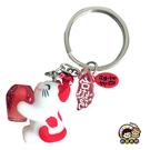 【收藏天地】台灣紀念品*貓的祈願鑰匙圈-紅(夜光)∕吊飾 掛飾 包包 配件 御守 汽車 機車