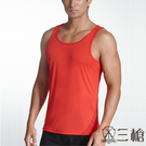 【三槍牌】時尚經典排汗速乾型男E棉彩色背心~紅3件組