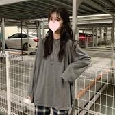 長袖T恤港風長袖T恤女初秋洋氣內搭打底衫韓版寬鬆百搭慵懶風CHIC上衣潮 伊羅鞋包