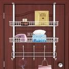 免釘門后掛鉤掛衣架靜音門后收納架門背式置物架臥室衛生間掛架