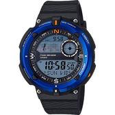 【CASIO 卡西歐】SPORTS GEAR 戶外運動錶-藍圈 SGW-600H-2ADR
