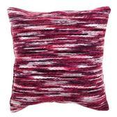 HOLA home毛線緞染抱枕45x45cm 紅