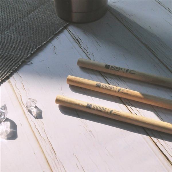 天然木吸管 (細吸管x3) Natural Wooden Straw【DUBBE】