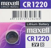 maxell CR1220 鈕扣型鋰電池 3V/一顆入(促50) 水銀電池 手錶電池-傑梭