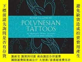 二手書博民逛書店Polynesian罕見Tattoos: 42 Modern Tribal Designs to Color an