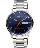 MIDO 美度 Commander II 天文台認證機械手錶-藍/40mm M0214311104100