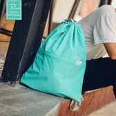 旅游束口袋雙肩包 雙肩背包男女戶外旅行防水便攜運動健身包摺疊 【好康八五折】