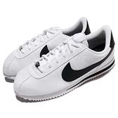 Nike 休閒鞋 Cortez Basic SL GS 白 黑 女鞋 大童鞋 復古慢跑鞋 皮革 阿甘鞋 運動鞋【ACS】 904764-102