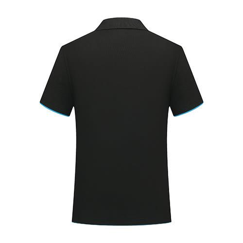 夏季短袖翻領黑配天藍色廣告衫訂做印logo 純棉polo衫工作服T恤【96308-82】【7色S~3XL】*86精品女人國*