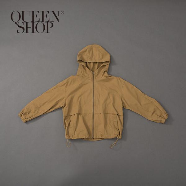 Queen Shop【02071112】工裝連帽縮口外套 兩色售 1/2*現+預*