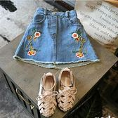 女孩夏季女童牛仔短裙子兒童女寶寶女寶夏天薄款公主裙 全館免運