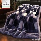 毛毯被子加厚冬季珊瑚絨毯子男單人宿舍學生女雙層冬用保暖法蘭絨 QQ12941『bad boy時尚』