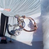 現貨-原創可愛簡約氣質鋯石玫瑰金手鍊手鐲女韓版甜美學生手環閨蜜禮物A14