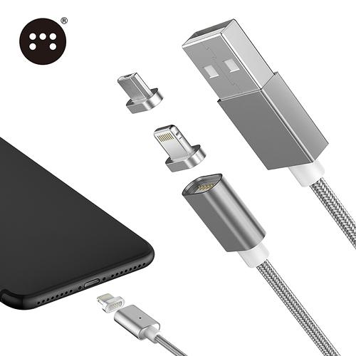 □Moizen㊣ 二合一 Apple & MICRO USB 接頭 磁吸充電線 傳輸線□HTC One M9 A9 M8 E9 Plus X9 Desire EYE 826 磁吸線