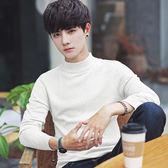 男士毛衣加厚長袖針織衫韓版修身高中生男裝半高領線衣秋冬季外套 森活雜貨