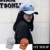 OT SHOP帽子‧ 棉質前NYC後簡約字母刺繡設計‧老帽棒球帽鴨舌帽‧韓版復古搭配‧現貨‧C1978