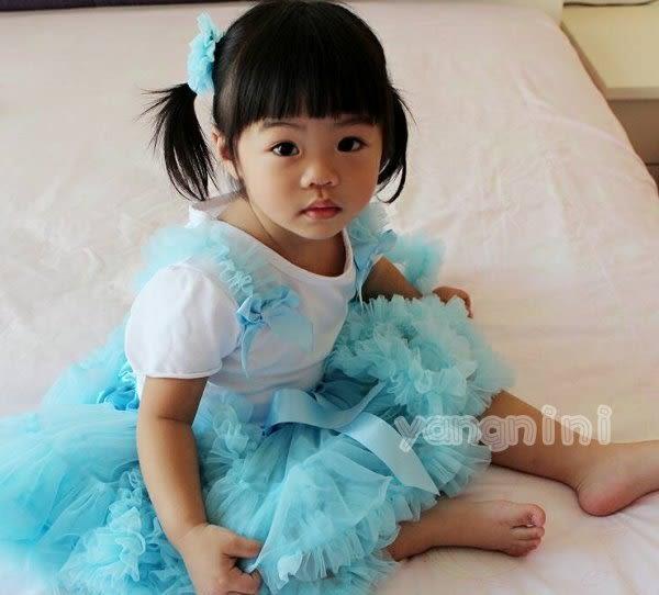 果漾妮妮 超澎公主澎澎裙套裝系列 寶寶 嬰兒 寫真 禮服 婚禮 攝影 花童 送頭花 【E0319】