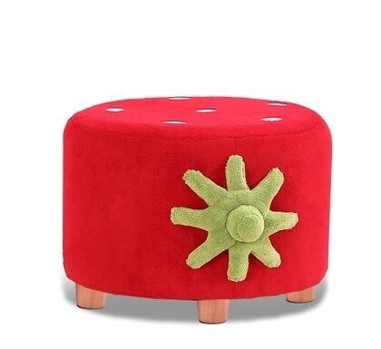 草莓沙發椅組合沙發 小孩寶貝幼兒園珊瑚絨兒童沙發-炫彩腳丫折扣店