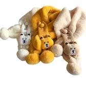 兒童圍脖秋冬季男女童寶寶保暖可愛圍巾兒童韓版潮小童卡通嬰幼兒