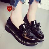小皮鞋娃娃鞋韓版軟妹黑色小皮鞋女新款學生平底工作鞋仙女單鞋子  凱斯盾數位3C