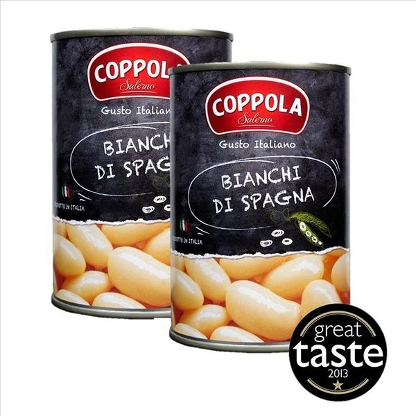 義大利 Coppola 柯波拉焗豆兩罐 Bianchi di Spagna / Butter beans 400g 二入