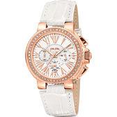 Folli Follie WATCHALICIOUS 羅馬晶鑽計時腕錶-白/39mm WF13B002SES-WH